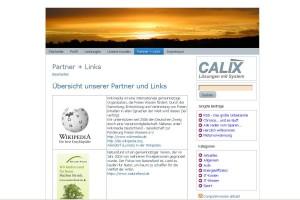Relaunch der Calix-Webseite