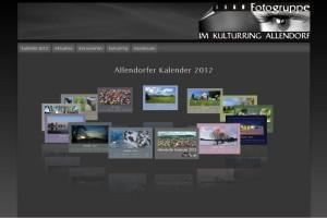 Foto-Web-Seite mit Flash-Animationen
