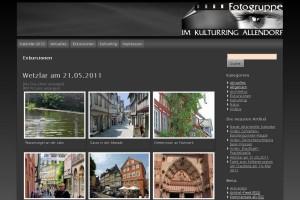 Web-Seite mit Bildergalerien